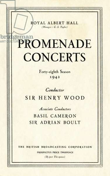 Proms programme cover