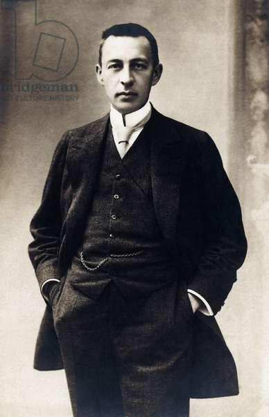 Sergei Rachmaninov standing -