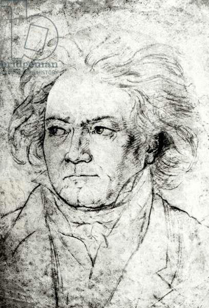 Ludwig van Beethoven drawing