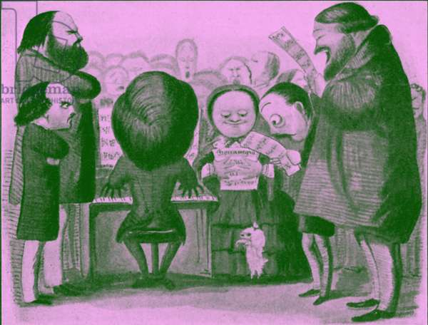 Giuseppe Verdi caricature by