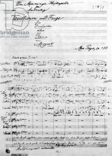 Max Reger - handwritten score