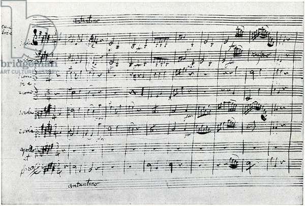 Apollo et Hyacinthus - Original manuscript