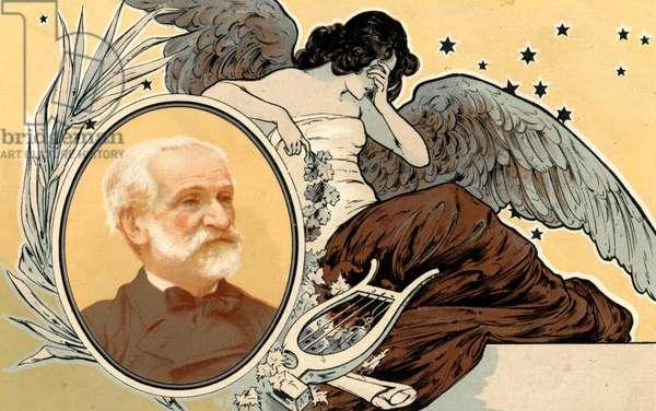 Giuseppe Verdi portrait on