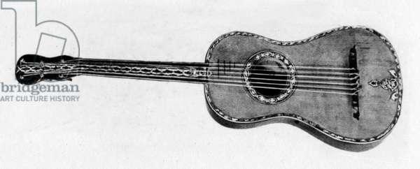 Guitar made in 1792