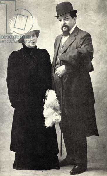 Claude Debussy and wife Emma Bardac - portrait