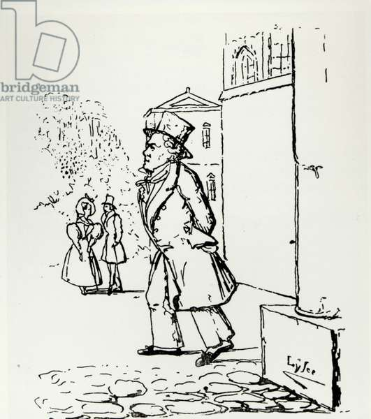 Caricature of Ludwig van