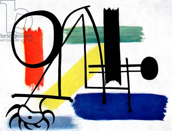 Joan Miro 's set design for  Jeux d'Enfants