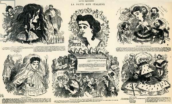 Adelina Patti - caricature