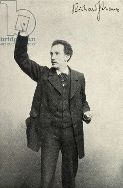 STRAUSS Richard conducting 1890