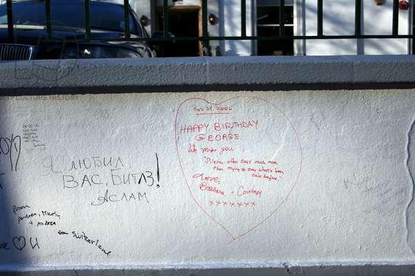 Beatles graffiti on white