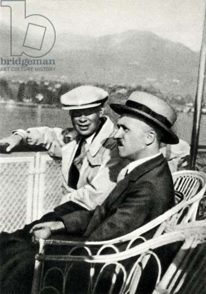Composers Sergey/I Prokofiev and Boris Asafiev on the shores of Lake Geneva