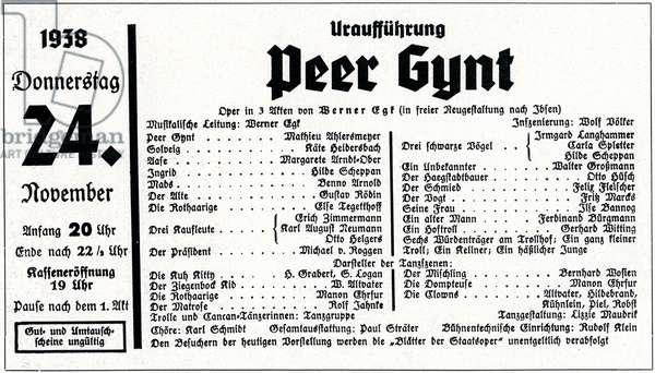 Werner Egk opera Peer Gynt.
