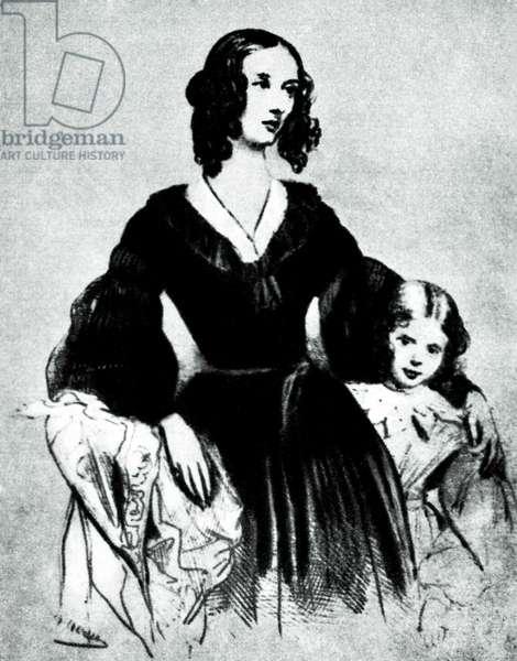 Portrait of Jane Stirling, by Achille Devéria