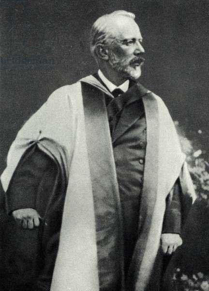 Pyotr Tchaikovsky receiving honorary