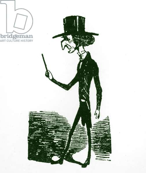 Berlioz caricature by Nadar