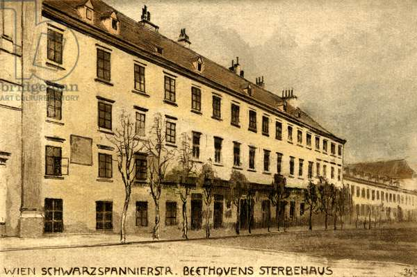 House in Schwarzspannierstrasse, Vienna where Ludwig van Beethoven died in 1827