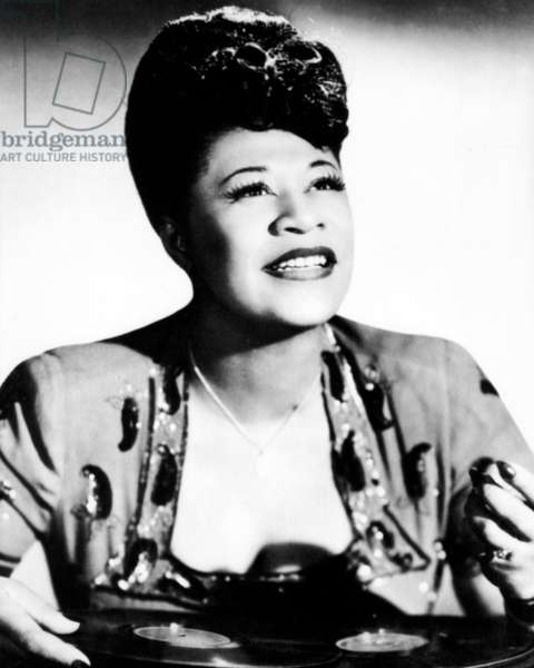 Ella Fitzgerald with pile