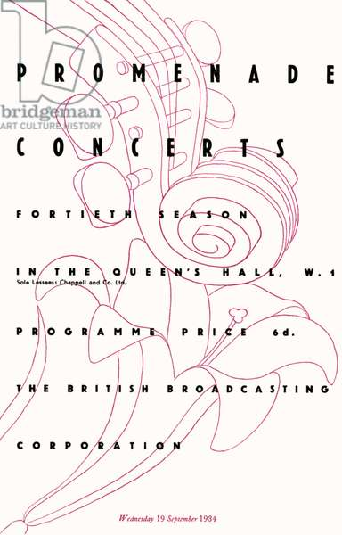 Programme cover for the
