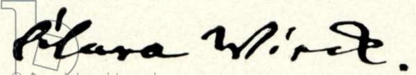 Clara SCHUMANN's signature while