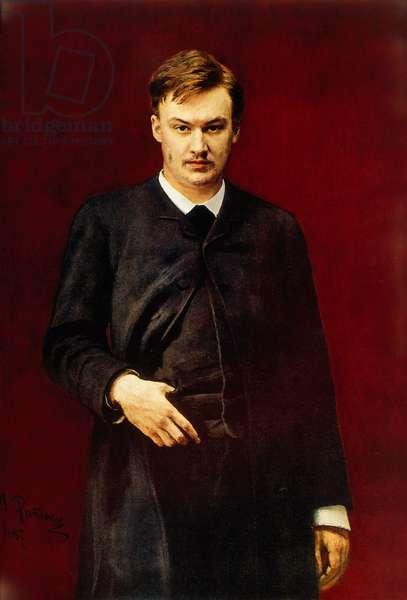 Alexander GLAZUNOV portrait painting
