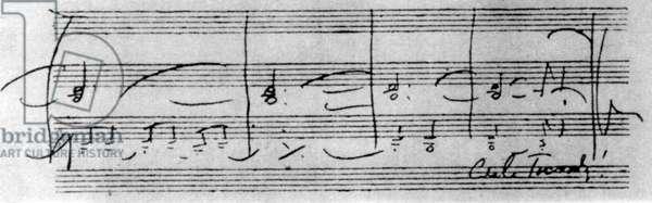 TCHAIKOVSKY PI- Autograph score