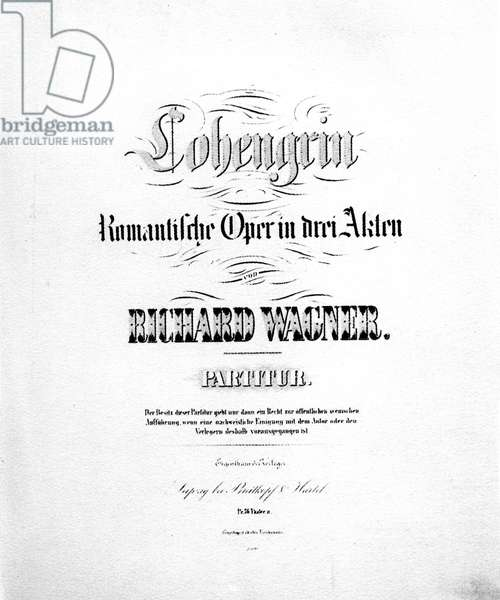 Lohengrin opera by Wagner, titlepage