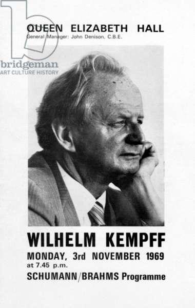 Wilhelm Kempff - portrait