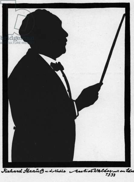 Richard Strauss -signed portrait