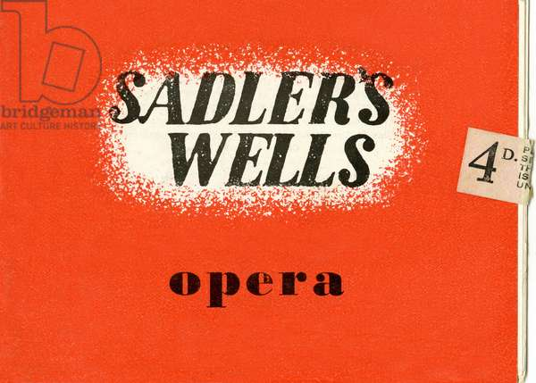 Sadler's Wells opera programme from 1947