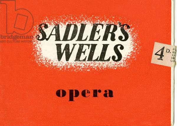 Sadler's Wells opera programme from 1947