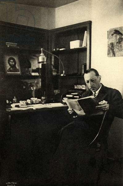 Igor Stravinsky in his
