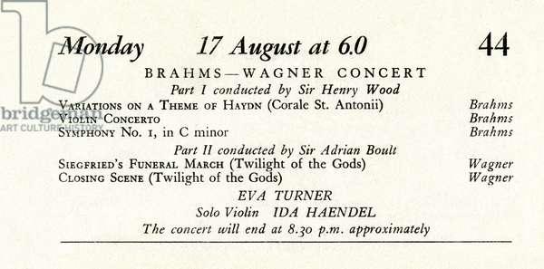 Proms concert programme