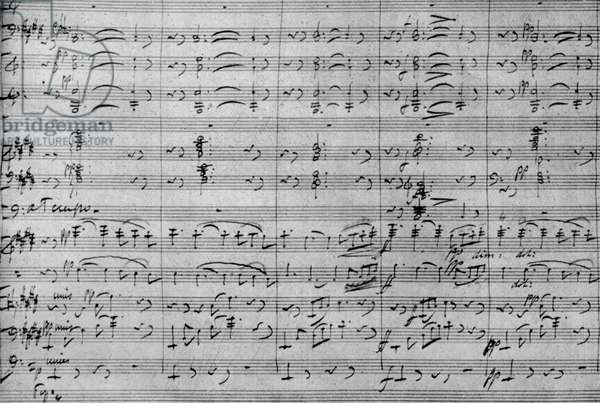 Jules Massenet - musical score by the French composer of the prelude to the third act of his opera 'Herodiade', 1881