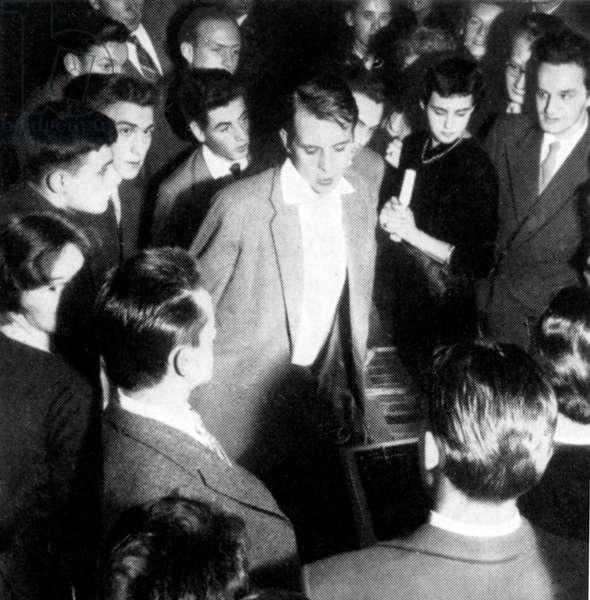 Karlheinz Stockhausen at Munich concert, c. 1952