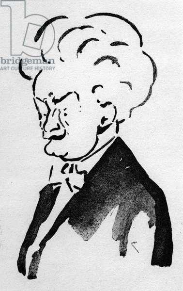Leos Janacek caricature by Kral