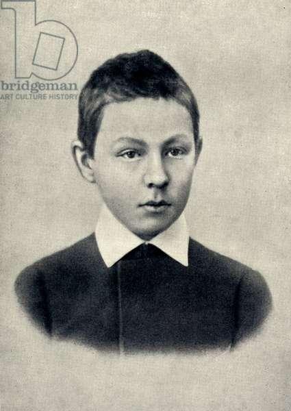Sergei Vassilievich Rachmaninov aged 12