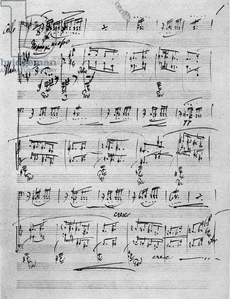 Leos Janacek autograph manuscript for 'Conte'/ Pohadka