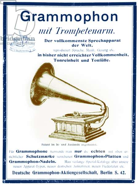 Gramophone Advertisement from 1903