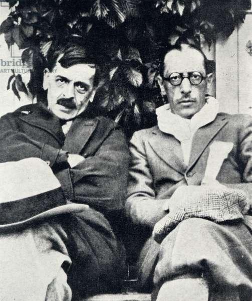 Igor Stravinsky with Ramuz