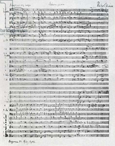 Richard Strauss score for 'Metamorphosen'