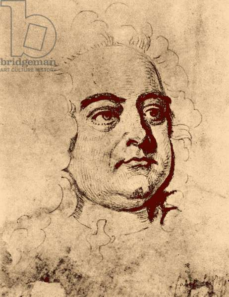 George Frederic Handel - from engraving by J. Faber