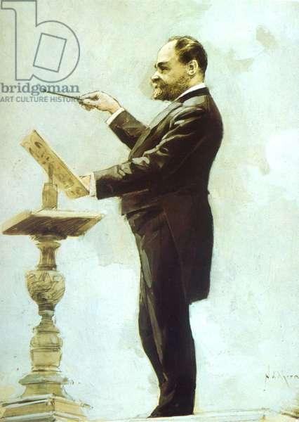 A Dvorak conducting at