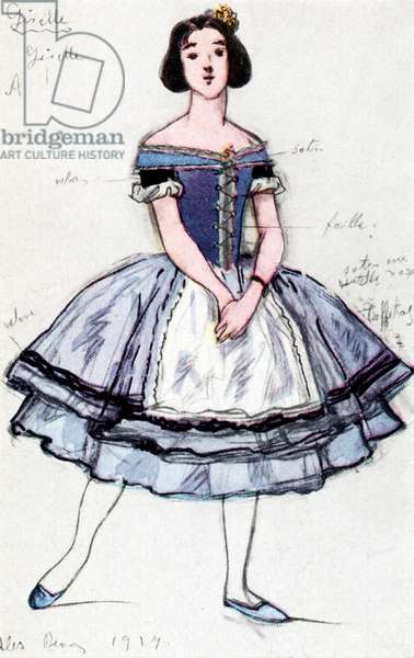 Costume design for 'Giselle'