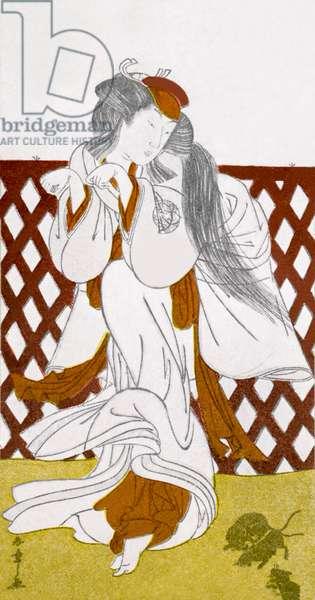 Japanese dancer by Katsukawa Shunsho