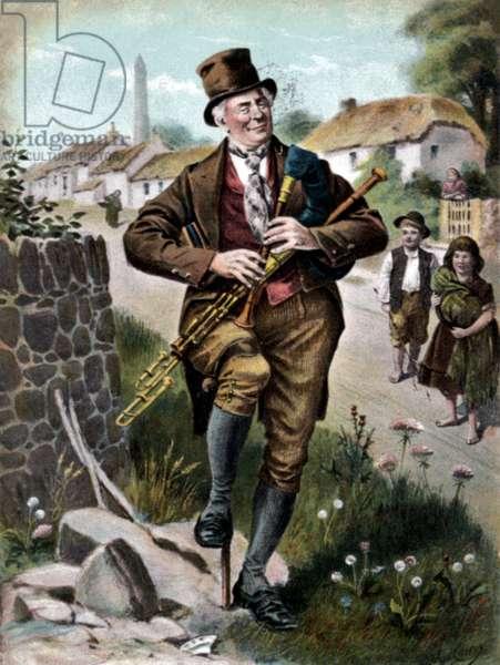 Irish piper Bagpipe