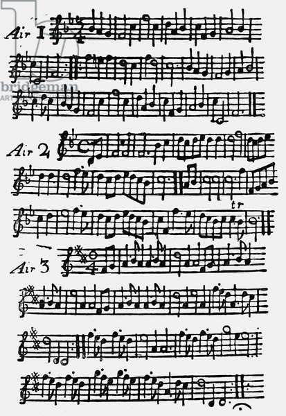 'The Beggar's Opera' score