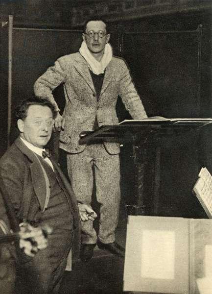 Igor Stravinsky after a