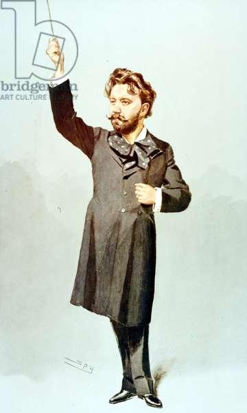 Sir Henry Wood in Vanity Fair cartoon