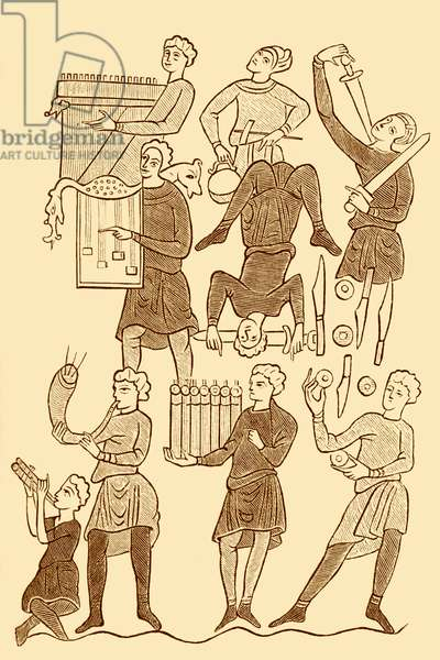 Minstrels and jugglers in 10th century
