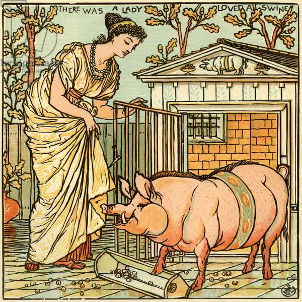 There was a lady loved a swine